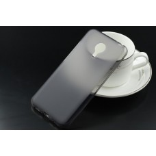 Чехол силиконовый полупрозрачный Silicone TPU Matte Gloss Black для Meizu MX5
