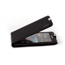 NUOKU Cradle Genuine Leather Case BLACK для Samsung Galaxy S2 (i9100)