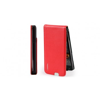 Чехол NUOKU Cradle Genuine Leather Case RED для Samsung Galaxy S2 i9100