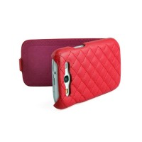 Чехол NUOKU Only Luxury Lambskin Case RED для Samsung Galaxy S3 i9300