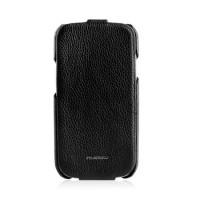 Чехол NUOKU Royal Luxury Leather Case BLACK для Samsung Galaxy S3 i9300