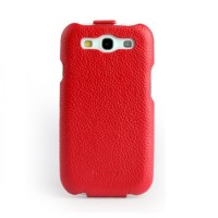 Чехол NUOKU Royal Luxury Leather Case RED для Samsung Galaxy S3 i9300