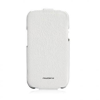 Чехол NUOKU Royal Luxury Leather Case WHITE для Samsung Galaxy S3 i9300