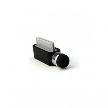 Стилус Dust Cap Stylus Touch Pen Black для iPhone/iPad
