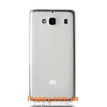 Чехол силиконовый Silicone TPU Matte Gloss White для Xiaomi Red Mi 2