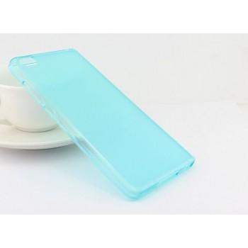 Чехол силиконовый полупрозрачный Silicone TPU Matte Gloss Blue для Xiaomi Mi5