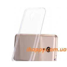 Чехол силиконовый прозрачный Silicone TPU Gloss Clear для Meizu MX4 Pro
