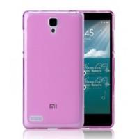 Чехол силиконовый полупрозрачный Silicone TPU Matte Gloss Pink для Xiaomi RedMi Note