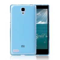 Чехол силиконовый полупрозрачный Silicone TPU Matte Gloss Blue для Xiaomi Red Mi Note