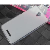 Чехол силиконовый полупрозрачный Silicone TPU Matte Gloss White для Xiaomi RedMi Note2