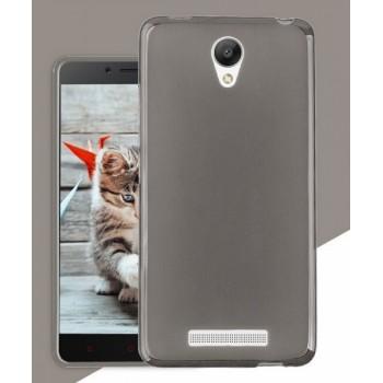 Чехол силиконовый полупрозрачный Silicone TPU Matte Gloss Black для Xiaomi RedMi Note2