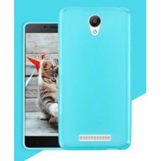 Чехол силиконовый Silicone TPU Matte Gloss Blue для Xiaomi RedMi Note2
