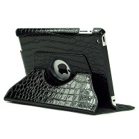 Чехол 360 Rotating Stand Leather CROCO Case Black для iPad 2