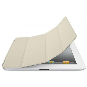 Чехол Apple Smart Cover Leather Cream для iPad 2/3/4