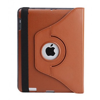 Чехол 360 Rotating Stand Leather Case Light Brown для iPad 2/3/4