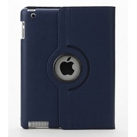 Чехол 360 Rotating Stand Leather Case Dark Blue для iPad 2/3/4