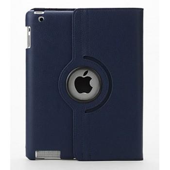 Чехол 360 Rotating Stand Leather Case Dark Blue для iPad 2/3/4