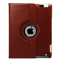 360 Rotating Stand Leather Case для iPad 2/3/4 Brown