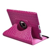 Чехол Rotating Stand 360° Crocodile Pink Purple для iPad 2/iPad 3/4