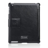 Чехол ICARER Leather Case Honourable Series BLACK для iPad 3/iPad 2