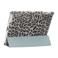 Чехол NUOKU ROYAL Stylish Leather Case GREY для iPad 3/iPad 2