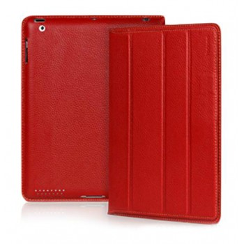 Чехол кожаный YOOBAO iSmart Leather Case RED для iPad 3/iPad 2