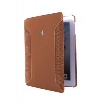 Чехол Ferrari F12 Collection Leather Folio Case CAMEL для iPad Air