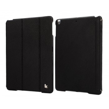 JisonCase Genuine Leather Smart Cover Case BLACK для iPad Air