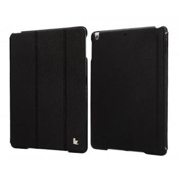 Чехол кожаный JisonCase Genuine Leather Smart Cover Case BLACK для iPad Air