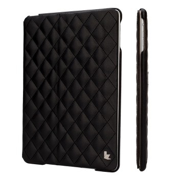 Чехол JIsonCase Quilted Leather Smart Case BLACK для iPad Air