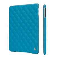 JIsonCase Quilted Leather Smart Case BLUE для iPad Air/Air 2