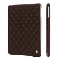 Чехол JIsonCase Quilted Leather Smart Case BROWN для iPad Air