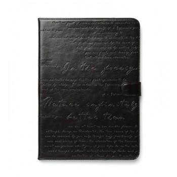 Чехол ZENUS Masstige Lettering Diary Series BLACK для iPad Air