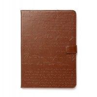 Чехол ZENUS Masstige Lettering Diary Series BROWN для iPad Air
