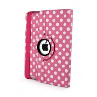 Чехол 360° Rotating Stand Leather Case Pink Горошек для iPad Mini/Mini 2/3