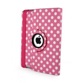 Чехол 360° Rotating Stand Leather Case Pink Горошек для iPad Mini/Mini 2/3