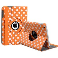 Чехол 360° Rotating Stand Leather Case Оранжевый Горошек для iPad Mini/Mini 2/3