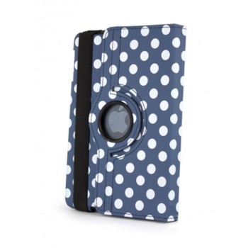 Чехол 360° Rotating Stand Leather Case Blue Горошек для iPad Mini/Mini 2/3