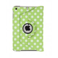 Чехол 360° Rotating Stand Leather Case Green Горошек для iPad Mini/Mini 2/3
