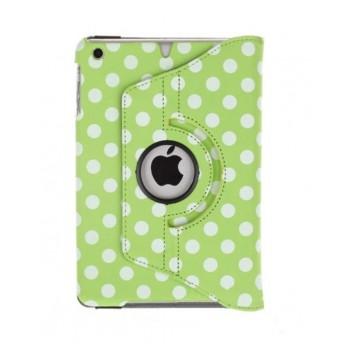 Чехол 360° Rotating Stand Leather Case Green Горошек для iPad Mini/Mini 2/3