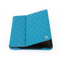 Чехол JIsonCase Quilted Leather Smart Case BLUE для iPad Mini/Mini Retina