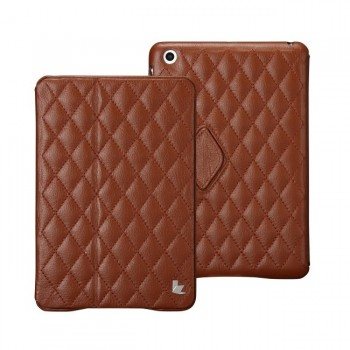 JIsonCase Quilted Leather Smart Case BROWN для iPad Mini/Mini Retina