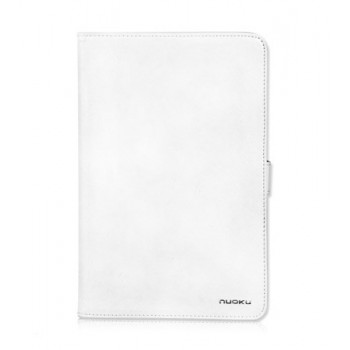 Чехол NUOKU BOOK Series Exclusive Leather Case WHITE для iPad Mini