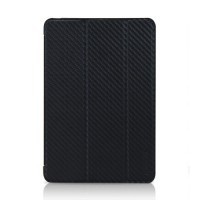 Чехол TUNEWEAR Carbon Look with Front cover BLACK для iPad Mini