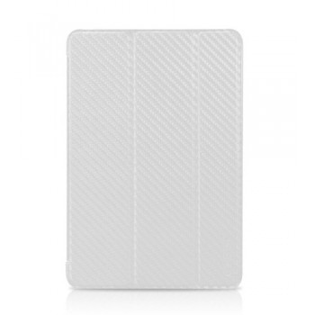 Чехол TUNEWEAR Carbon Look with Front cover WHITE для iPad Mini