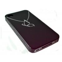 Чехол пластиковый Butterfly Necklace Case Black для iPhone 4/4S