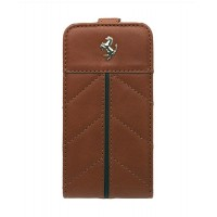 Чехол Ferrari California Flip Leather Case CAMEL коричневый для iPhone 4/4S