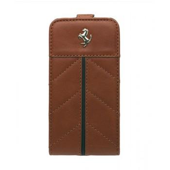 Чехол Ferrari California Flip Leather Case CAMEL коричневый для iPhone 4/4S