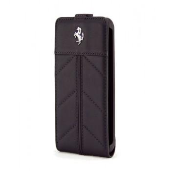 Чехол Ferrari California Flip Leather Case FULL BLACK для iPhone 4/4S