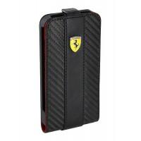 Чехол Ferrari Leather Flip Case CHALLANGE BLACK для iPhone 4/4S